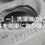 【レビュー】洗濯機のピロピロワカメを簡単に取り除く方法