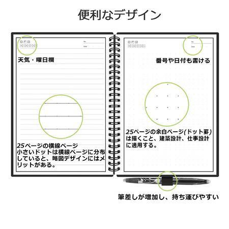 newyesの電子ノートは石製のノートとフリクションペン