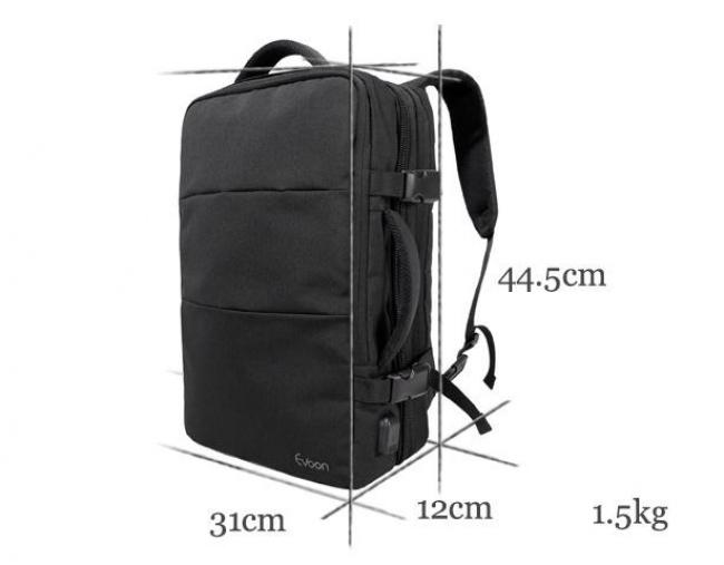 Evoonバックパックのサイズ