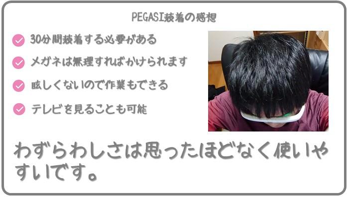 PEGASI装着の感触は?