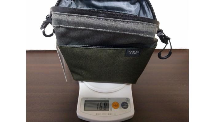 デイズポーチの重さは乾電池1個分