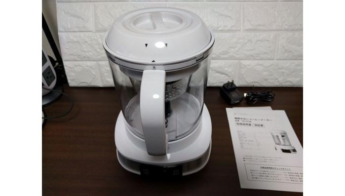 リヴィーズの電動水出しコーヒーのパーツを確認